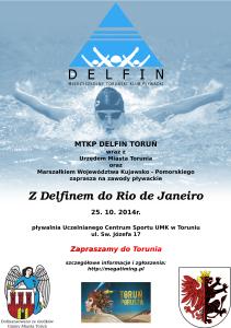 """Zaproszenie na zawody """"Z Delfinem do Rio de Janeiro"""""""